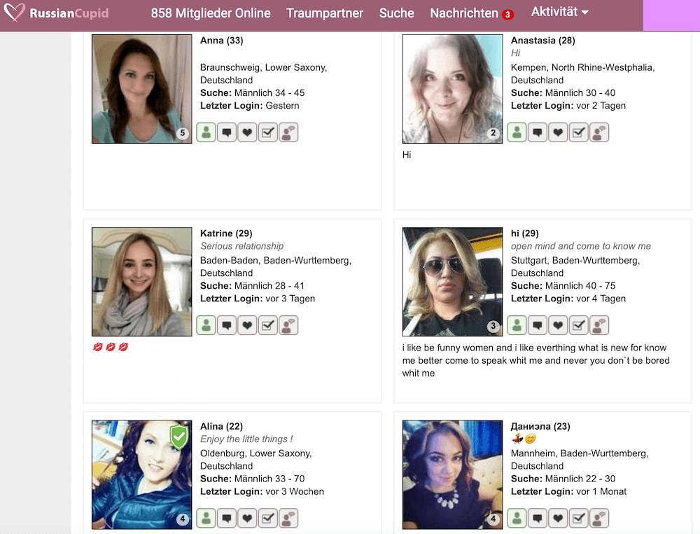 RussianCupid Frauen in Deutschland