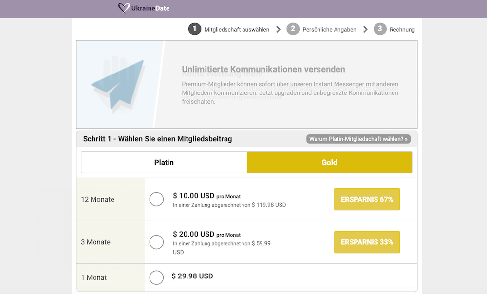 UkraineDate Preise
