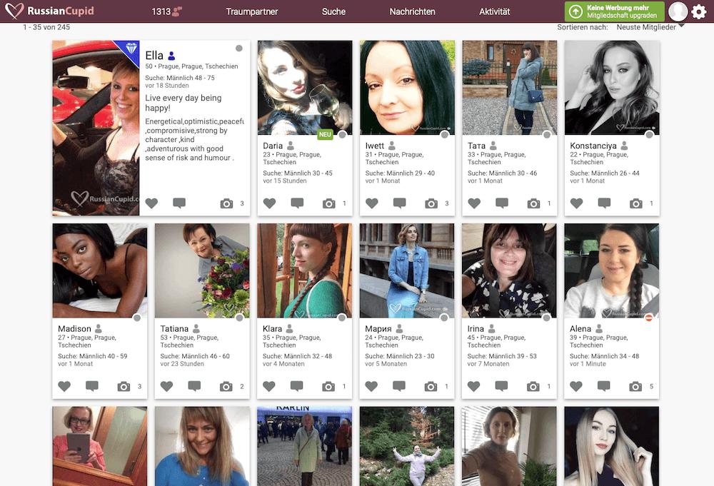 Tschechische Frauen auf RussianCupid